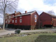 Typisches Schwedenhaus im Freilichtmuseum Skansen in Stockholm