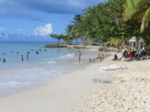 Pigeon Point, der bekannteste Strand in Tobago, direkt am Crown Point