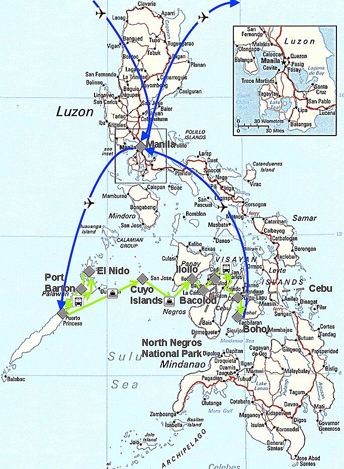 Meine Reiseroute durch die Philippinen