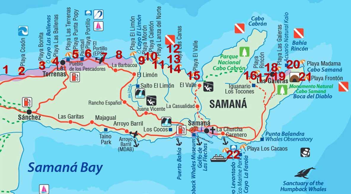 Die schönsten Strände auf der Samaná-Halbinsel in der Dominikanischen Republik im Jahr 2020