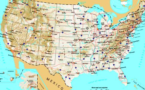 Übersicht über die USA und die einzelnen Bundesstaaten