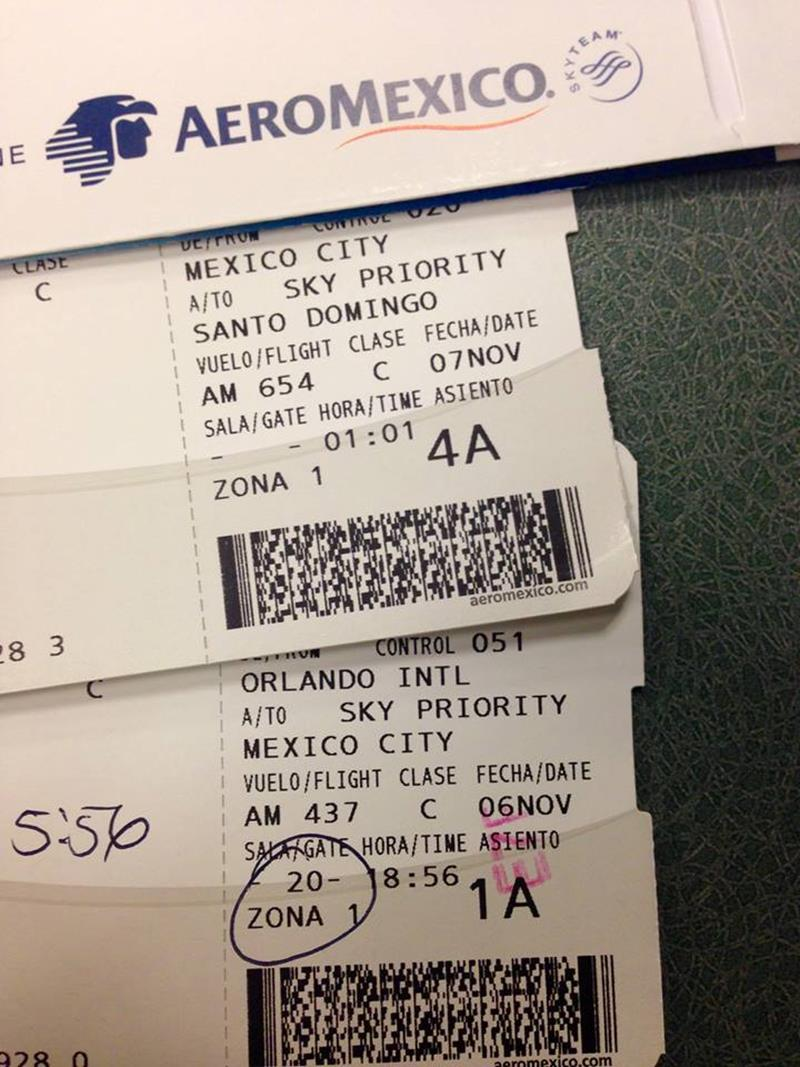 Flug in der Business Class mit Aeromexico von Orlando via Mexico City nach Santo Domingo