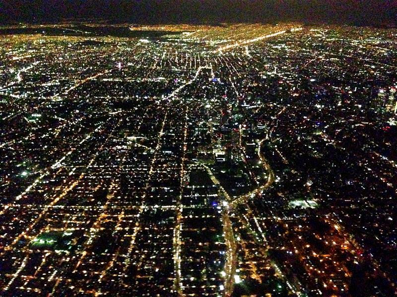 Ausblick auf Mexiko City bei Nacht