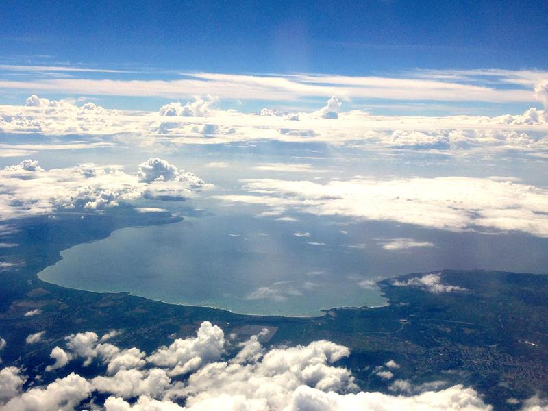 Ausblick auf die Bucht von Ocoa in der Dominikanischen Republik