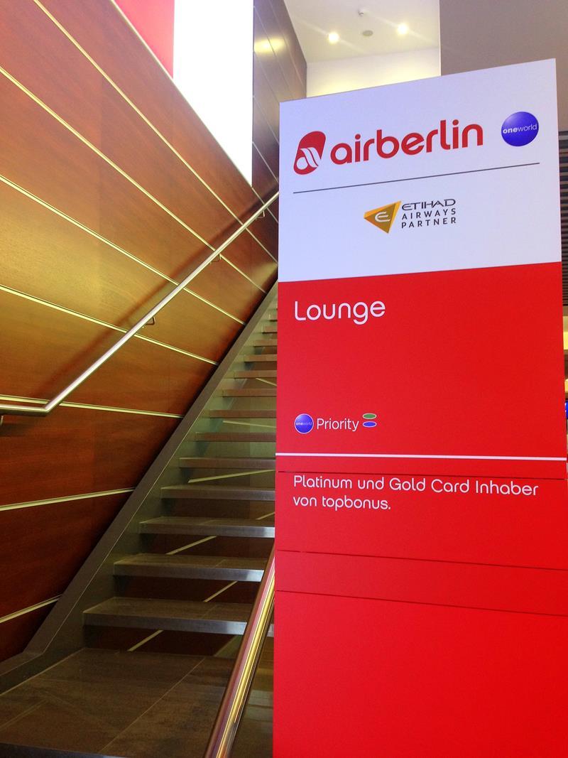 Die Air Berlin Lounge am Flughafen Düsseldorf