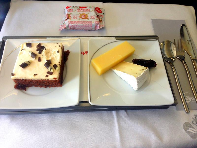 Nachspeise in der Business Class auf der Langstrecke mit Air Berlin