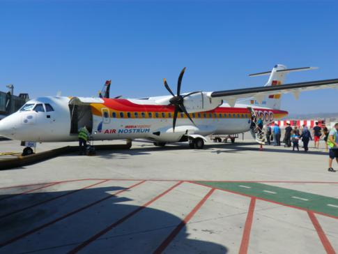 Maschine der Air Nostrum am Flughafen von Malaga