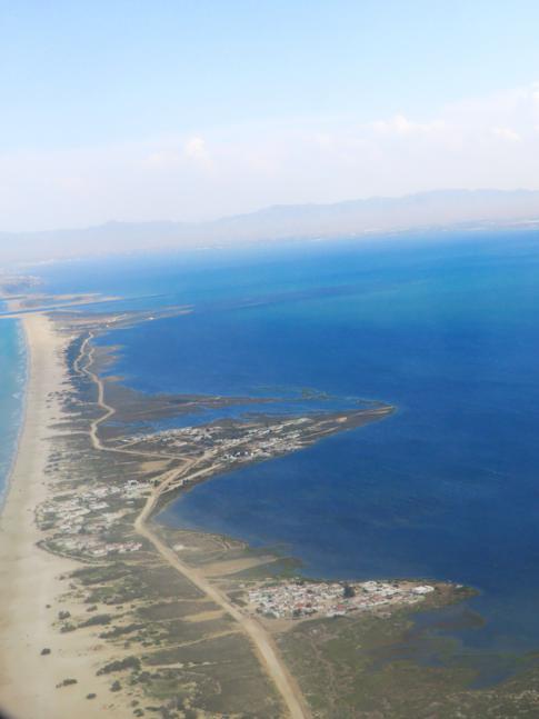 Annäherung an das afrikanische Festland - Flug mit Air Nostrum nach Melilla