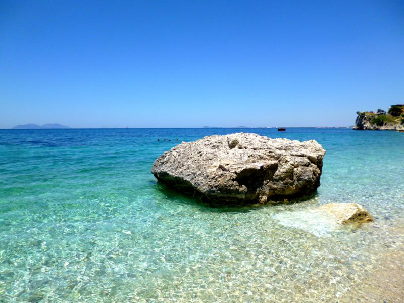 Wunderschöner Strand und Blick aufs Meer bei Vlora