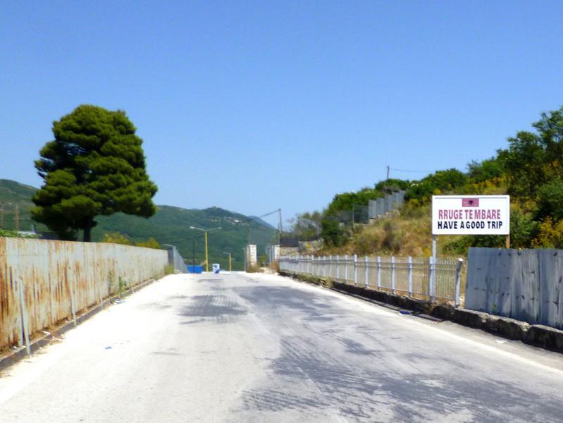 Grenzübergang in Kakavia von Albanien nach Griechenland