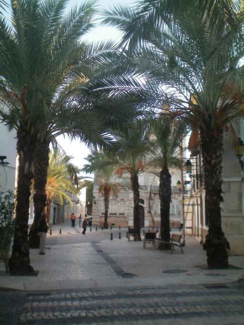 Fußgängerzone in Faro, die Rua Manuel Belmarço