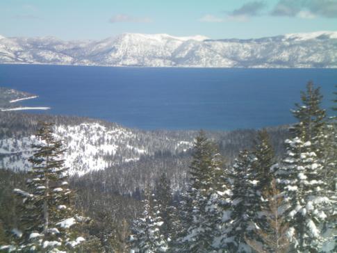 Ausblick vom Scott Peak auf den Lake Tahoe