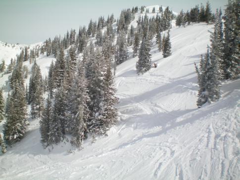 Das Skigebiet in Alta, eines der schneereichsten Gegenden in Utah
