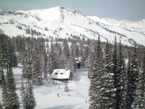 Die White Squaw Area im Skigebiet Alta, Utah