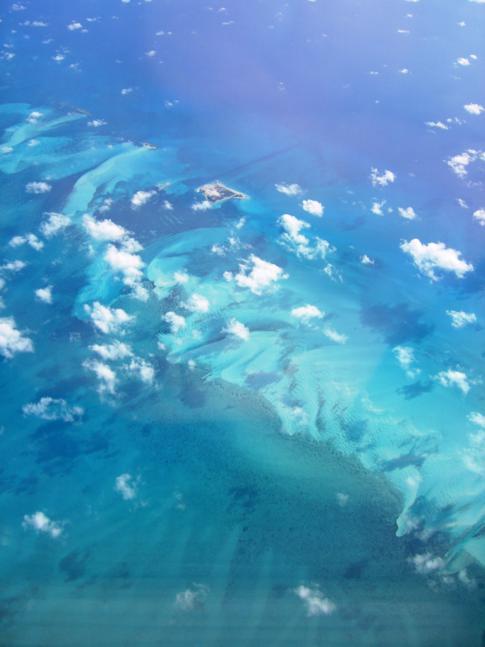 Ocean Key auf den Bahamas aus der Vogelperspektive