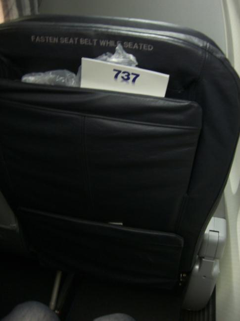 Der Sitz in der Business Class von American Airlines