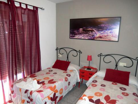 Unser Doppelzimmer in der Pension La Herradura