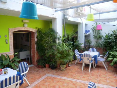 Der Innenhof der kleinen Pension La Herradura