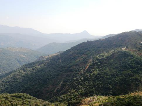Tolle Ausblick von der A369 südlich von Ronda