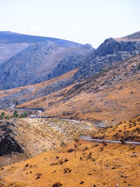 Toller Ausblick nach der Fahrt von Ronda zum Puerto del Viento