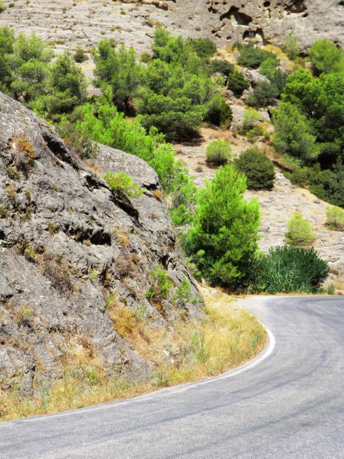 Meine persönliche Top 1 bei Andalusiens Straßen: die Gegend um Desfiladero de los Gaitanes