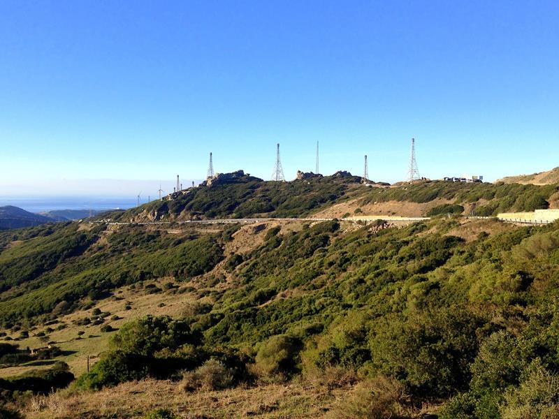 Die Straße zwischen Tarifa und Algeciras