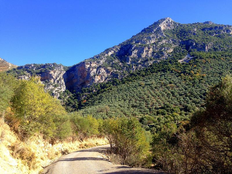 Der Garganta Verde in der Sierra de la Grazalema in der Nähe von Zahara de la Sierra