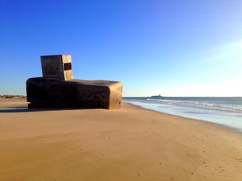 Der Playa de Camposoto am Punto del Boqueron in der Nähe von Cadíz