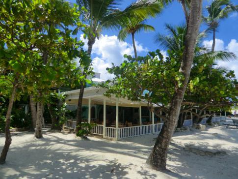 Das Coconut Grove Restaurant und Bar, zugehörig zum Siboney Beach Club in Antigua