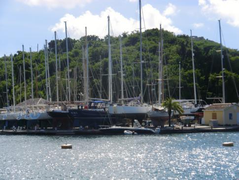Nelsons Dockyard ist heute Ankerplatz vieler Schiffe und Jachten