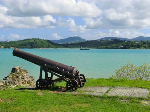 Das Fort James im Süden der Dickenson Bay