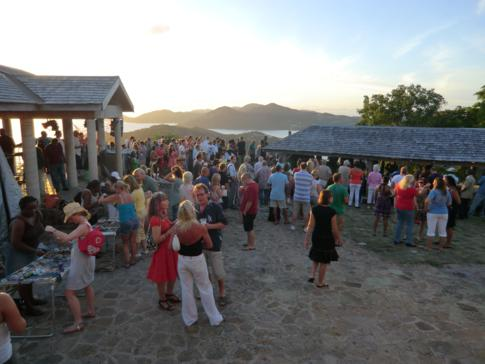 Die Sonntagsparty auf Shirley Heights bei English Harbour