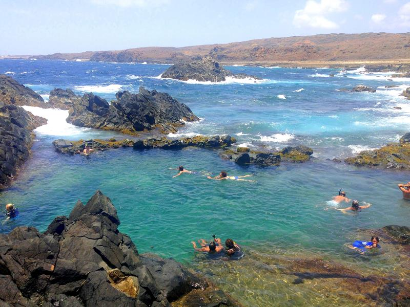 Der Natural Pool im Arikok National Park auf Aruba