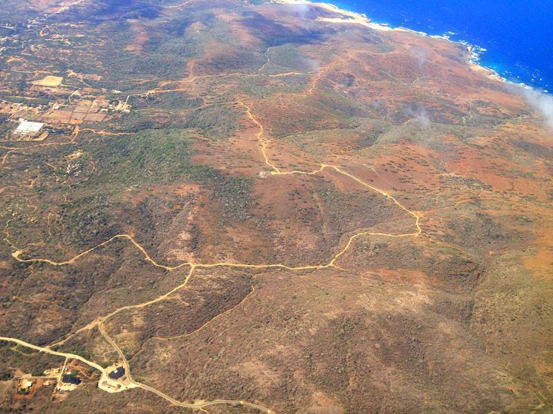 Der Arikok National Park auf Aruba aus der Luft