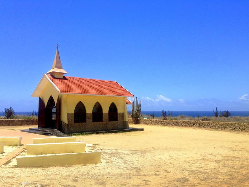 Die Kapelle Alto Visto Chapel im Norden von Aruba