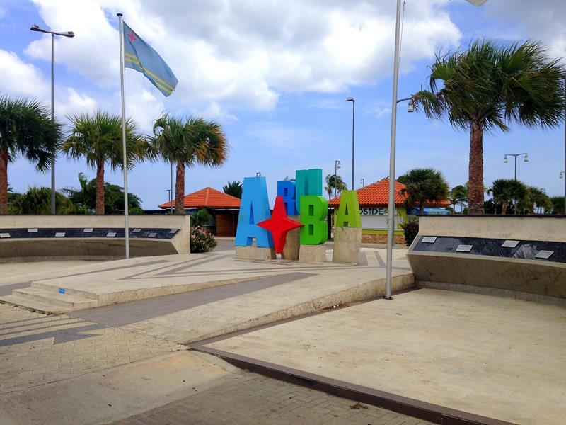 Oranjestad, die Haupstadt von Aruba, einer Insel in der südlichen Karibik