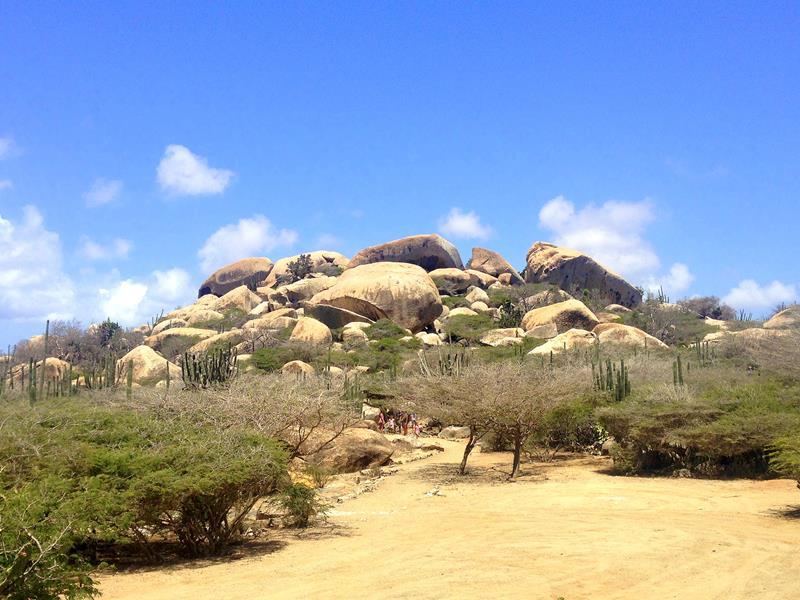 Die Ayo Rock Formations auf Aruba