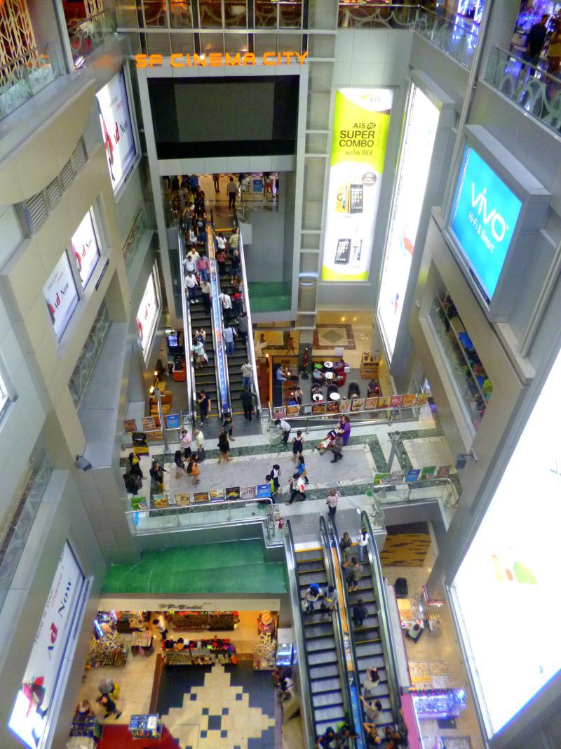 Das größte Einkaufszentrum in Bangkok, das MBK Shopping Center