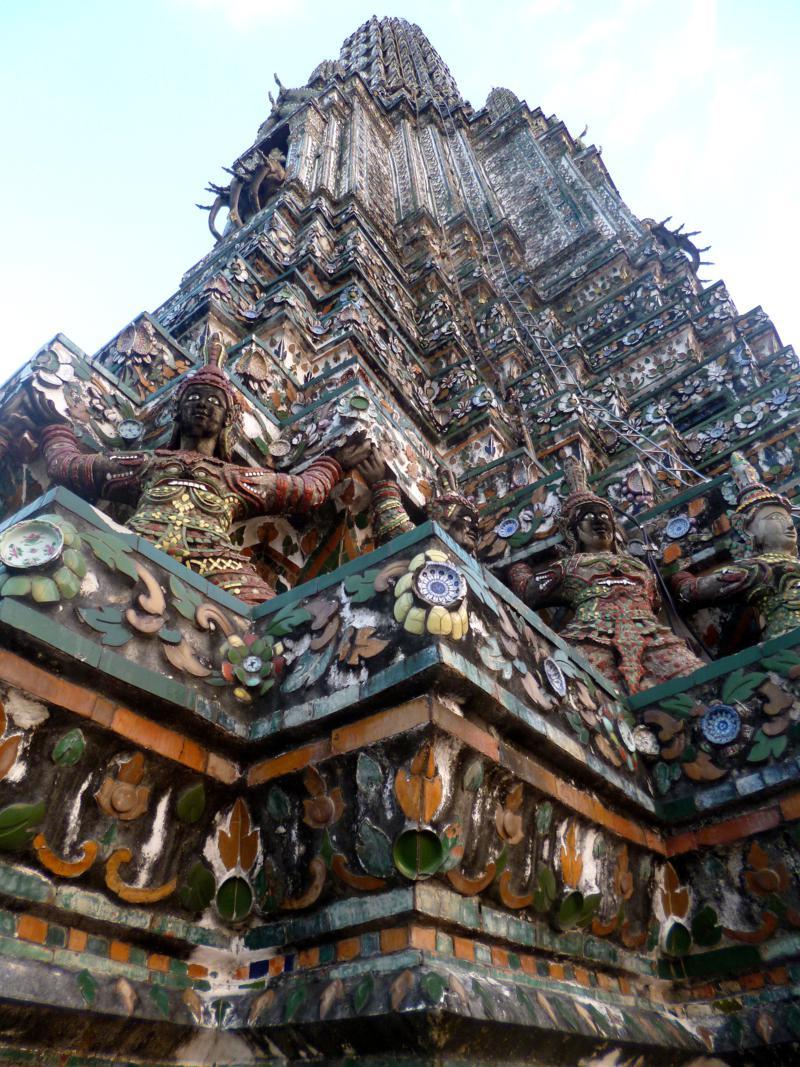Der Wat Arun, einer der interessantesten Tempel in Bangkok