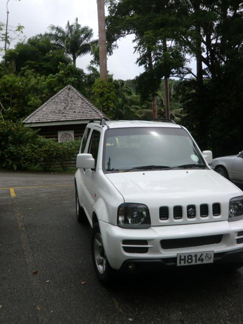 Unser Mietwagen in Barbados - ein Suzuki Jimny