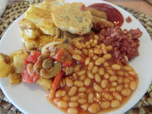 Das englische Frühstück im Butterfly Beach Hotel auf Barbados