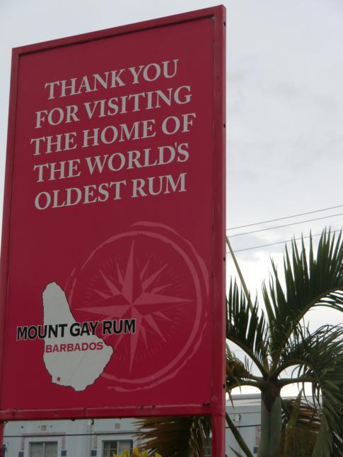 Am Visitor Centre des Mt. Gay Rums - leider am Wochenende geschlossen