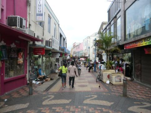 Zentrum und Fußgängerzone im Zentrum von Bridgetown
