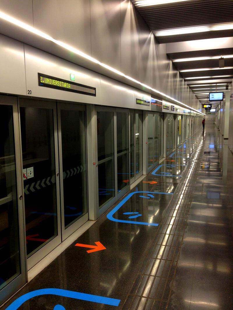 Die Metro in Barcelona
