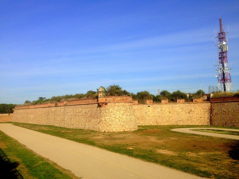 Die Festung Mont-Juic in Barcelona