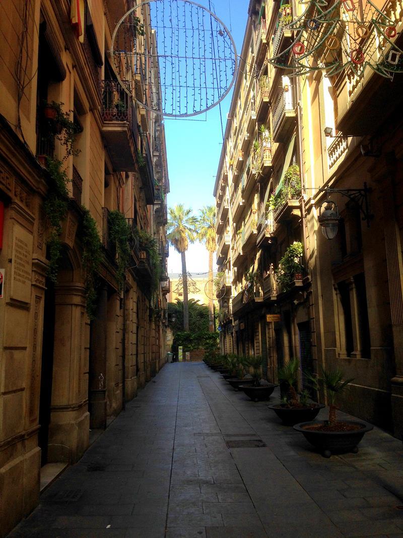 Die Altstadt von Barcelona im Barrio Gotico