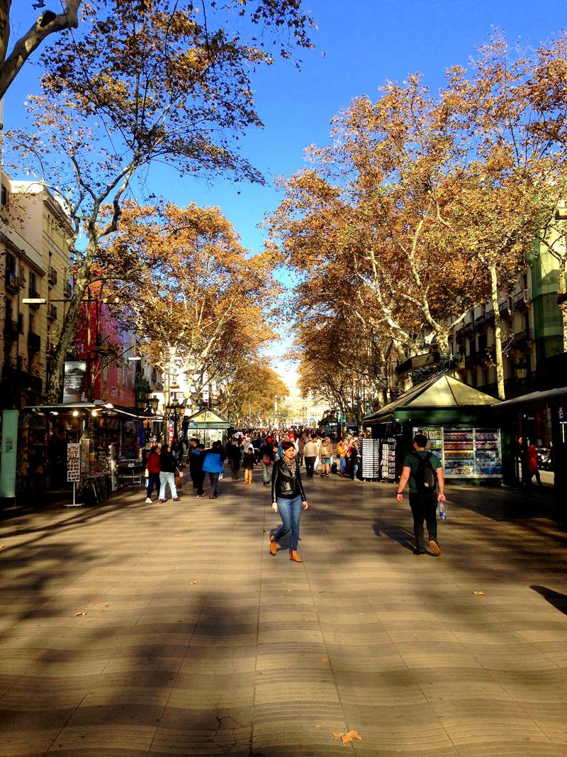 Las Ramblas, die wohl berühmteste Fußgängerzone in Barcelona