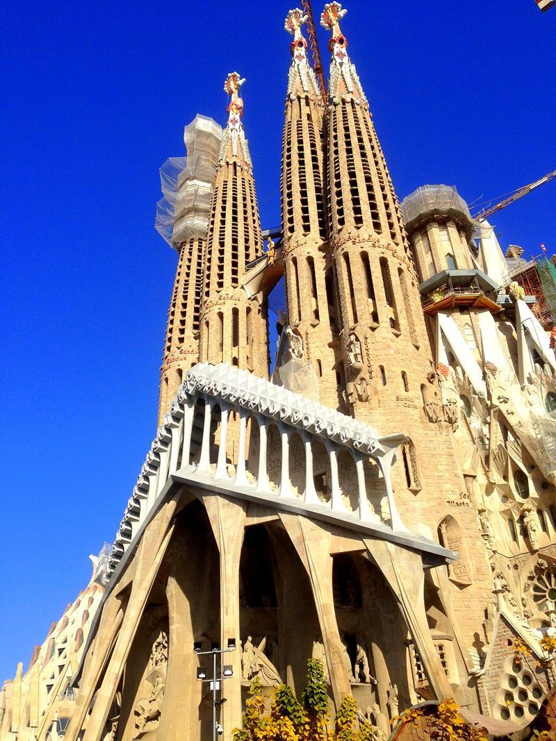 Die berühmteste Sehenswürdigkeit in Barcelona, die Sagrada Familia