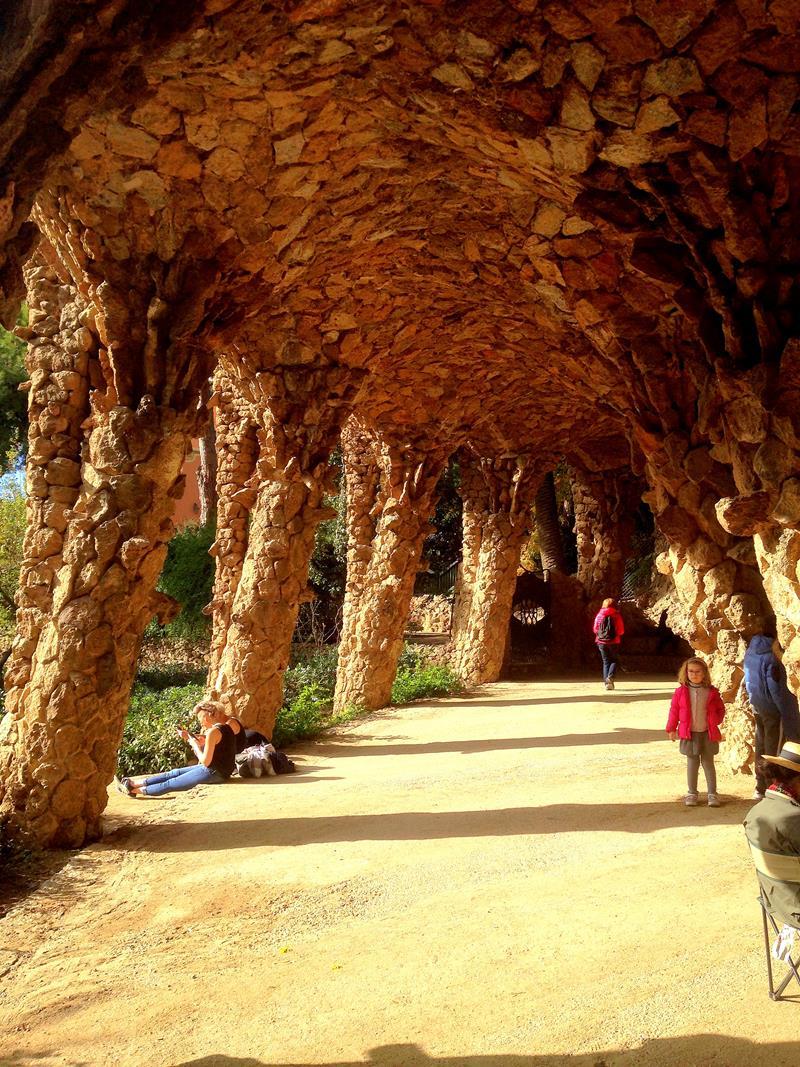 Der Park Güell in Barcelona