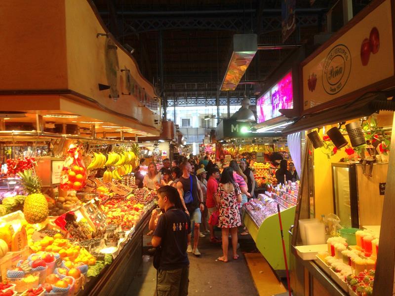 Mercat de la Boqueria - der bunte Markt von Barcelona